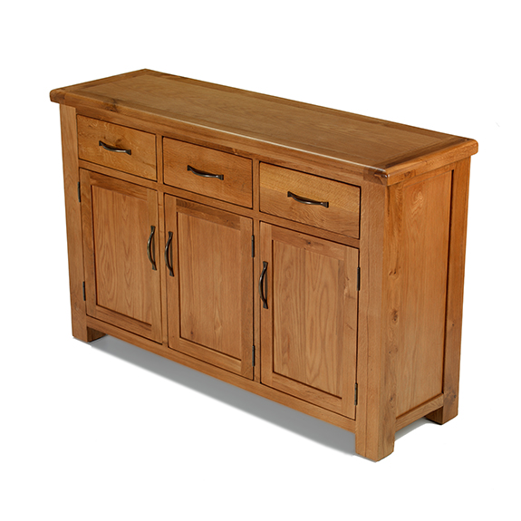 Dalby Oak Large 3 Door And 3 Drawer Sideboard