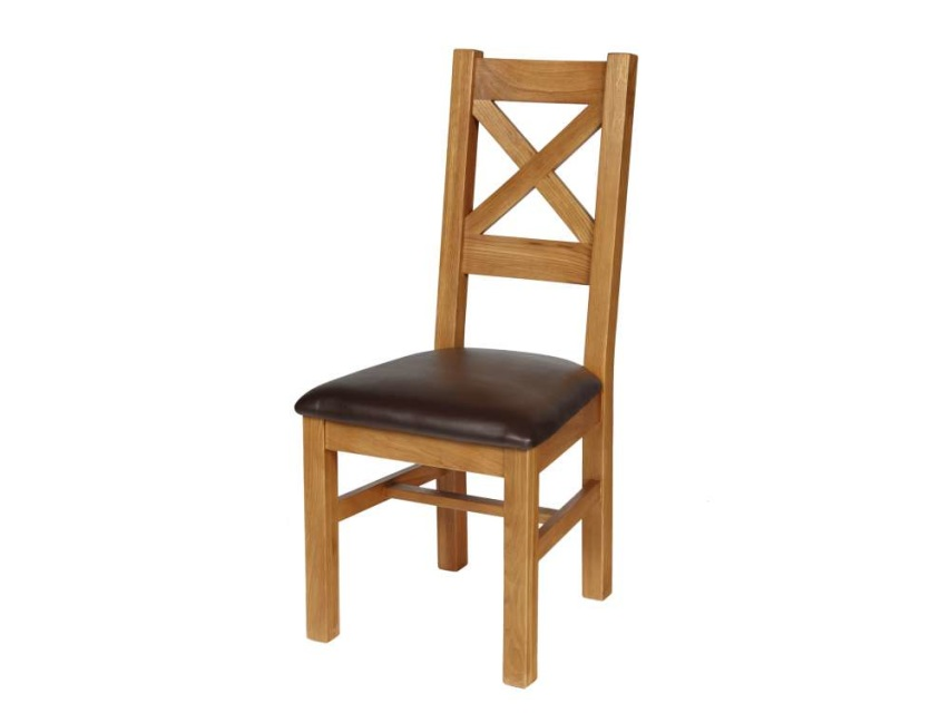 Cross Back Dining Chair With Brown Leather Seat Pad : s246587034294606807p543i2w640 from www.oakfurnitureyorkshire.com size 853 x 640 jpeg 37kB