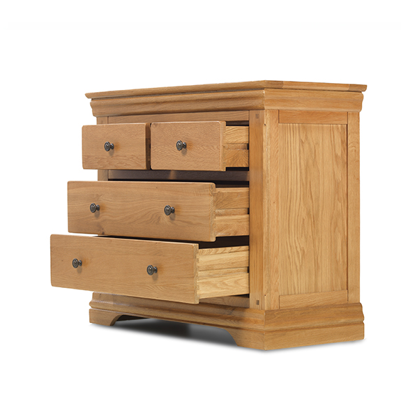 Brompton Oak Drawer Chest 2 Over 2