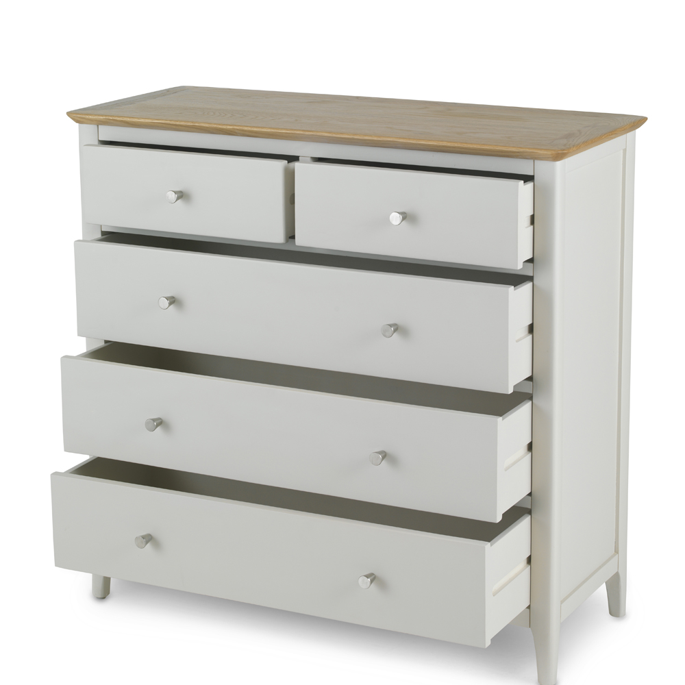 Hebden Painted Oak 2 Over 3 Drawer Chest