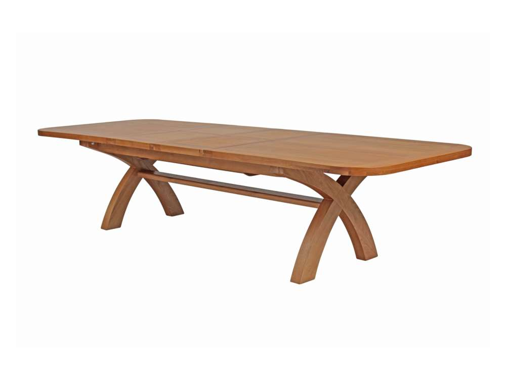 Country oak extra large extending cross leg dining table watchthetrailerfo